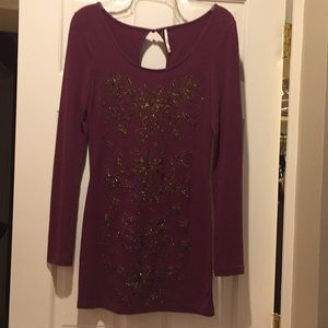 Free People NWOT Tunic-Gold/Front/Back S/P